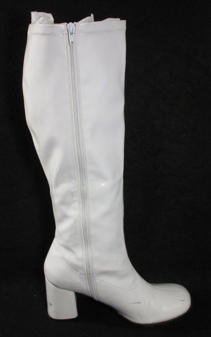 "White Plastic Reproduction ""GO GO"" Boots - 3"