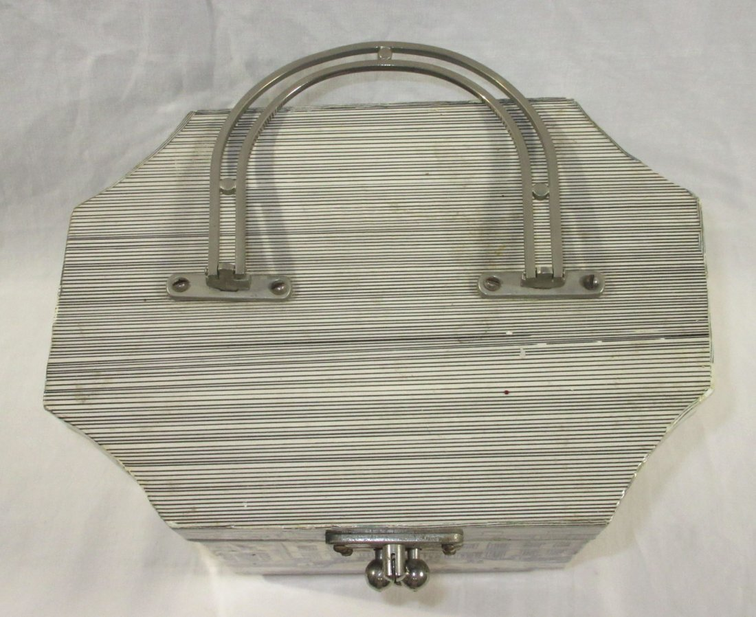 1960's Decoupage Wooden Box Purse - 2