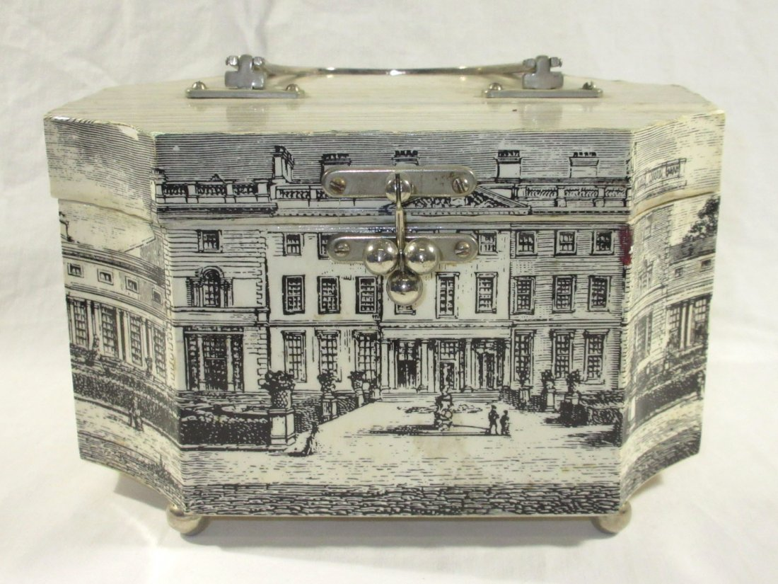 1960's Decoupage Wooden Box Purse - 3