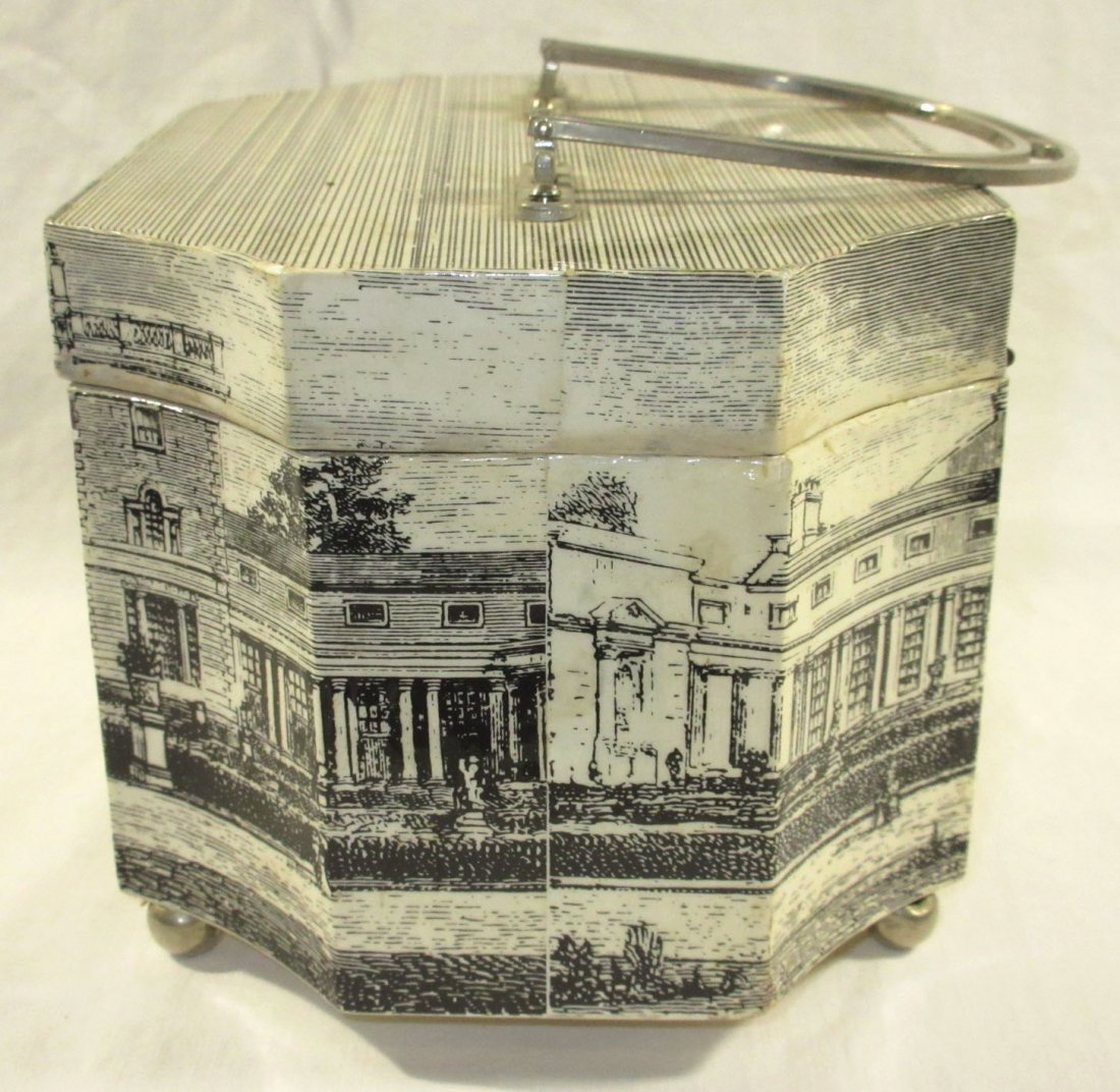 1960's Decoupage Wooden Box Purse - 4