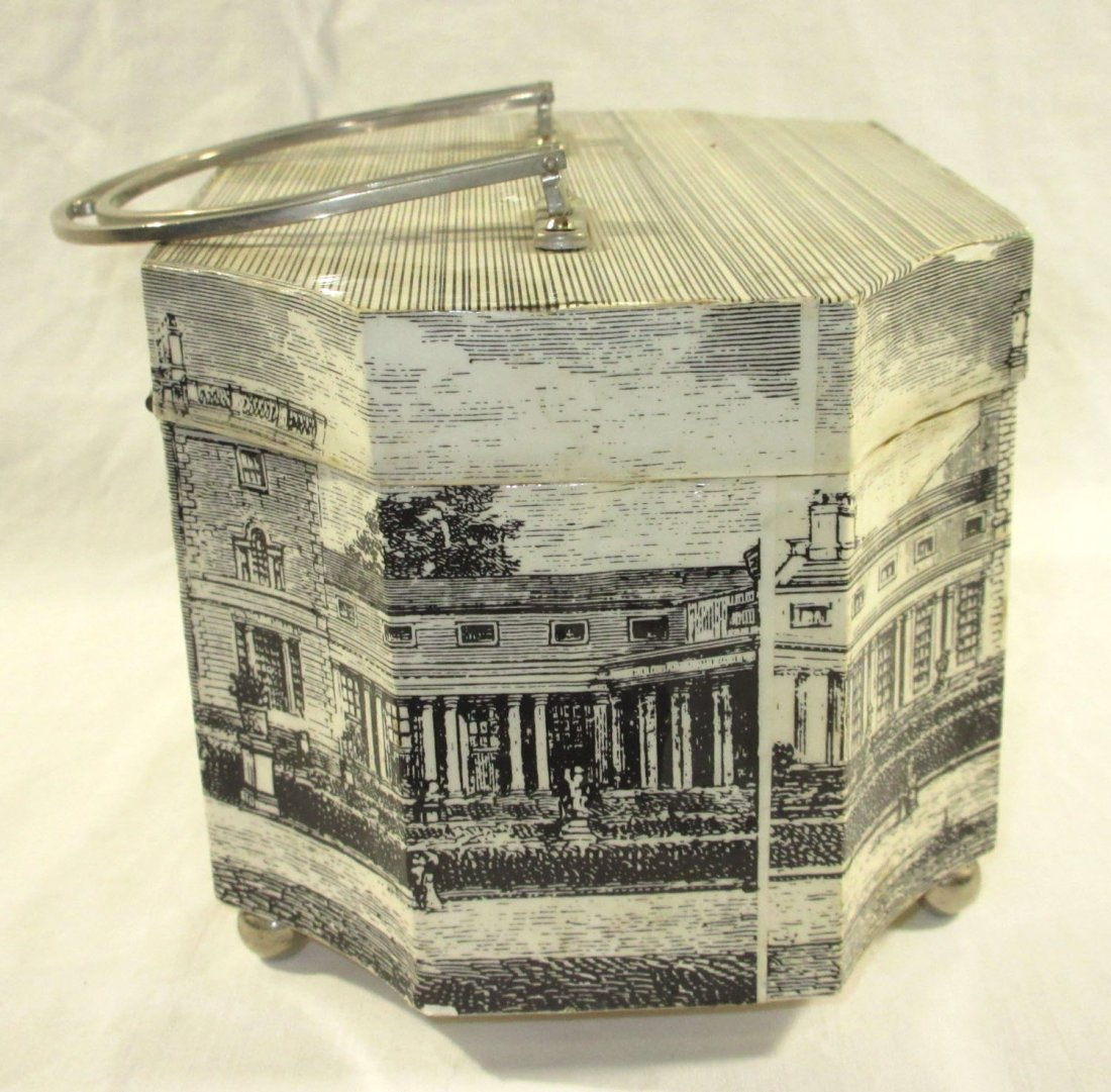 1960's Decoupage Wooden Box Purse - 6