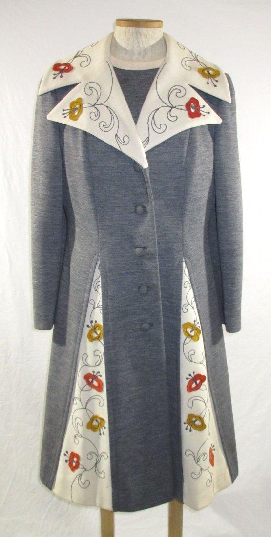 60's Lilli Ann Knits 2pc Coat Dress