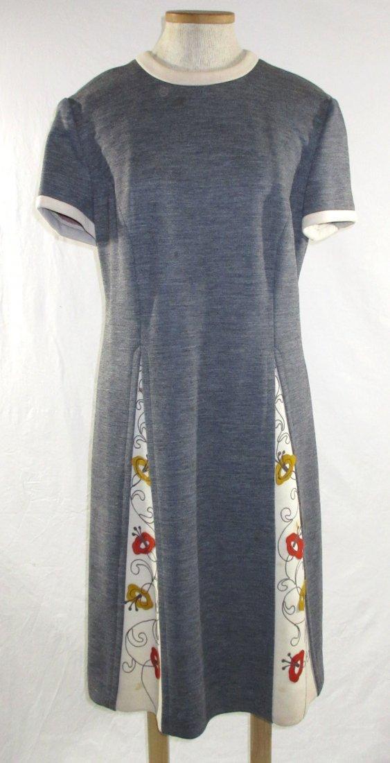 60's Lilli Ann Knits 2pc Coat Dress - 7