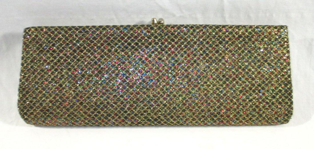 Golden Multi-Colored Glitter Clutch