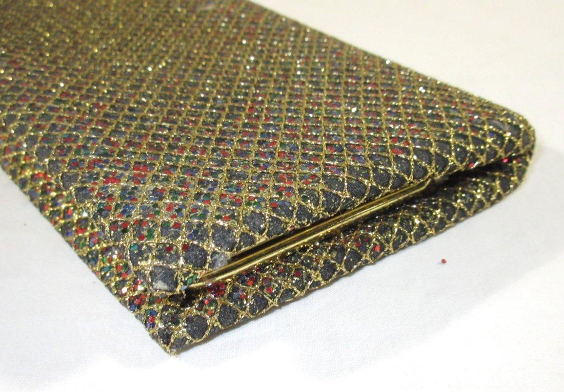 Golden Multi-Colored Glitter Clutch - 2