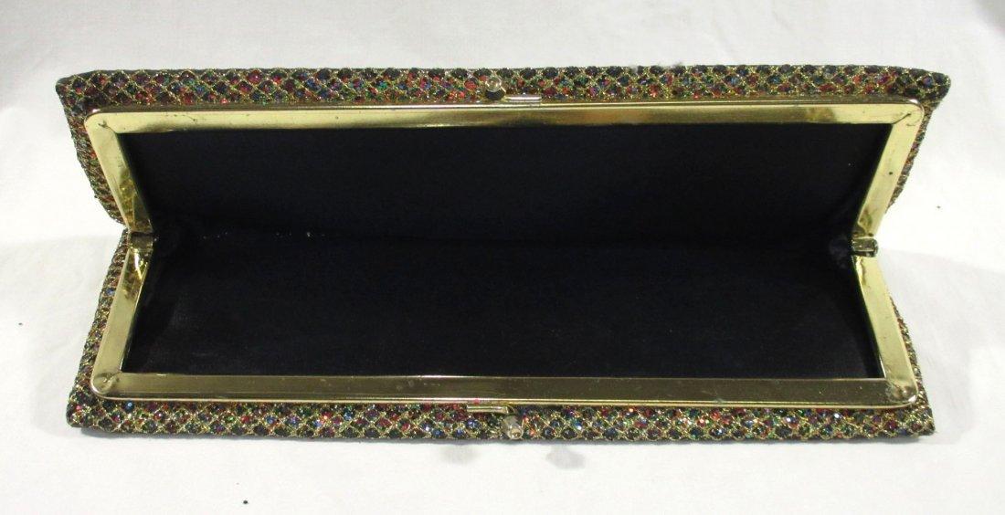 Golden Multi-Colored Glitter Clutch - 3