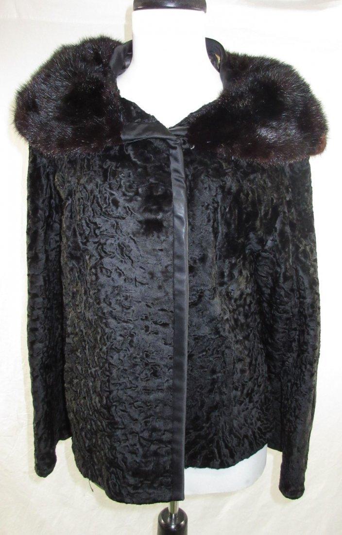 L. Steinbach Furs N.Y. Persian Wool & Mink Jacket