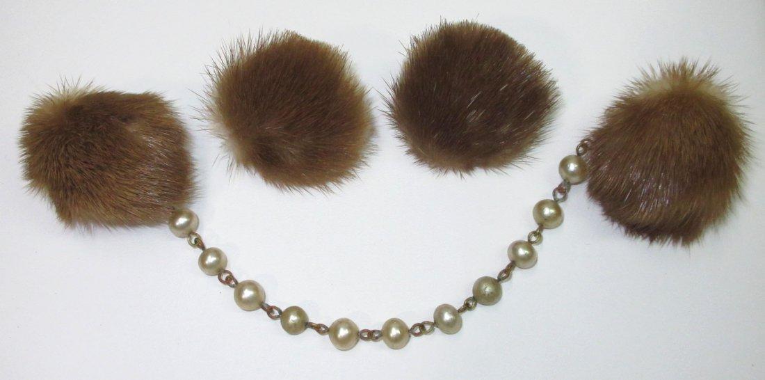 Mink Sweater Clip's & Mink Earrings !!