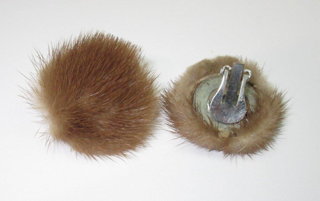 Mink Sweater Clip's & Mink Earrings !! - 2
