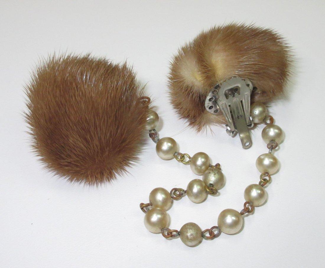 Mink Sweater Clip's & Mink Earrings !! - 3