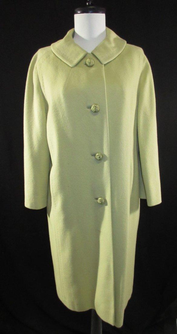 Celadon 1960's Cashmere Famous Barr Coat