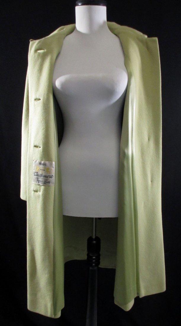 Celadon 1960's Cashmere Famous Barr Coat - 5