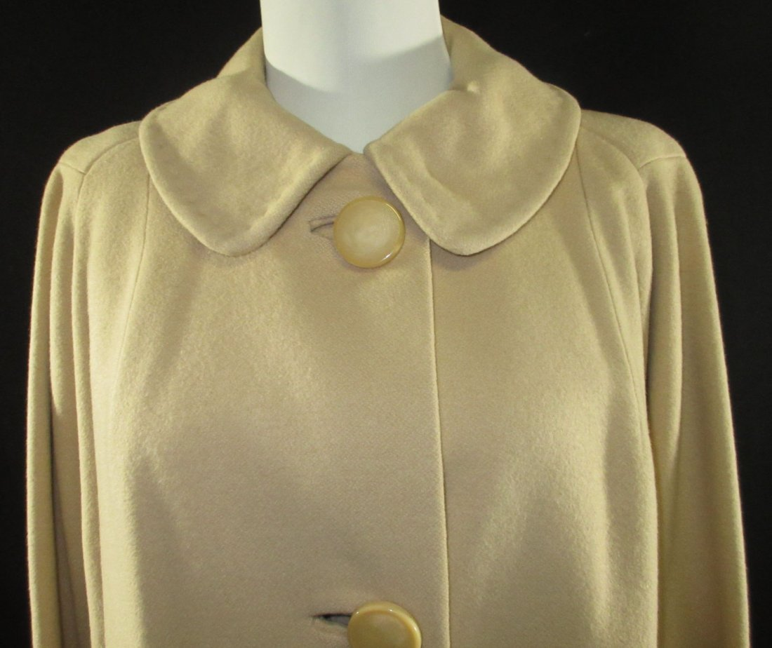 1960's Cashmere Dress Coat - 2