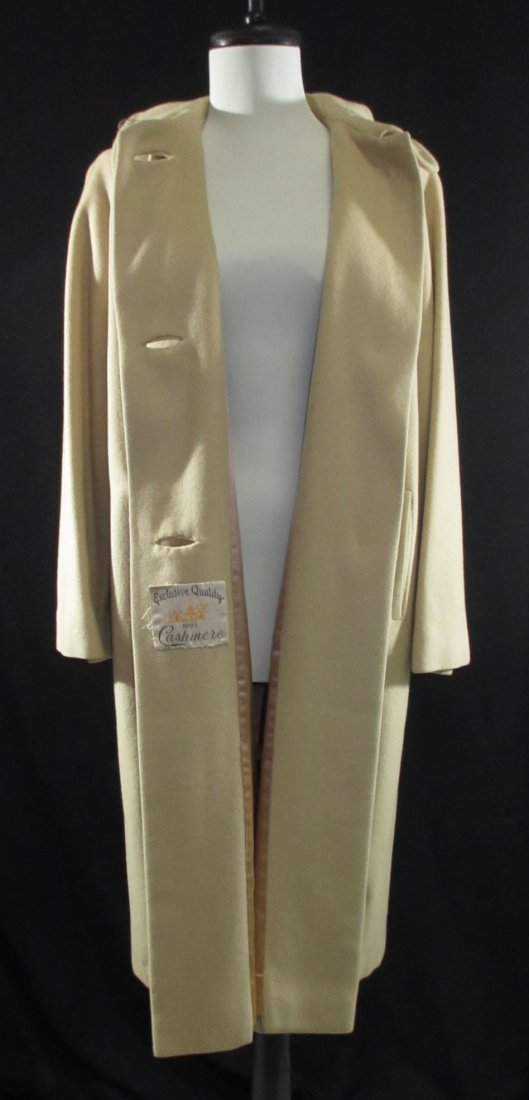 1960's Cashmere Dress Coat - 5