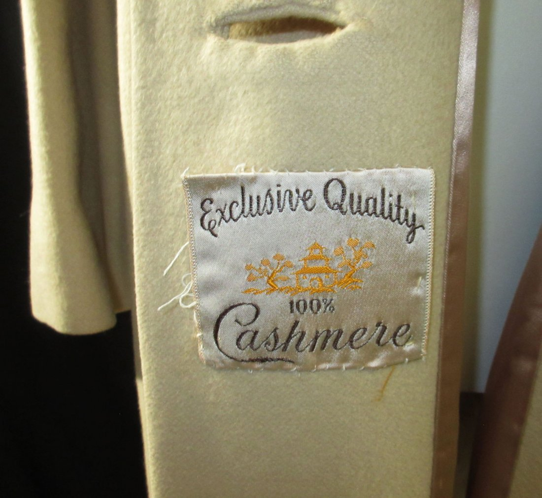1960's Cashmere Dress Coat - 6