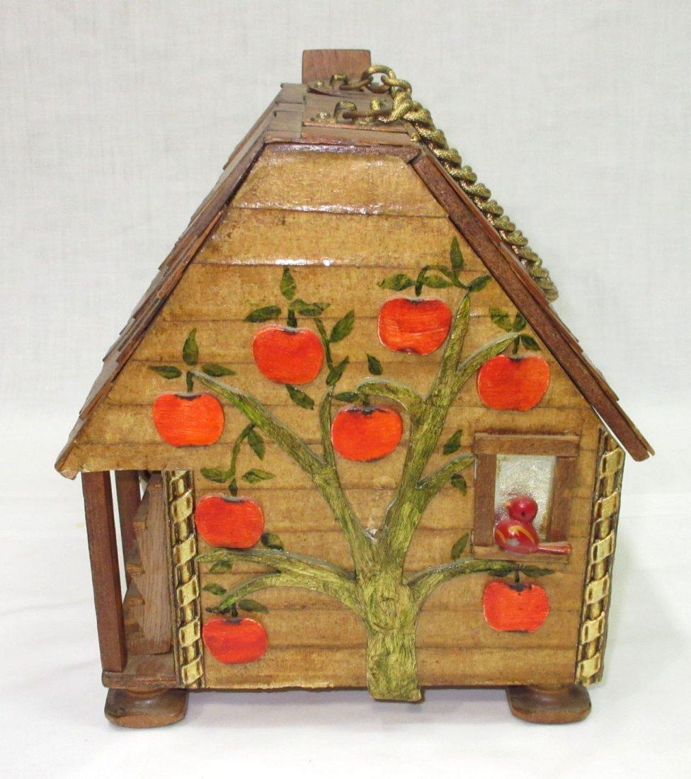 Folk Art Lou Smith Cabin, Box Purse - 2