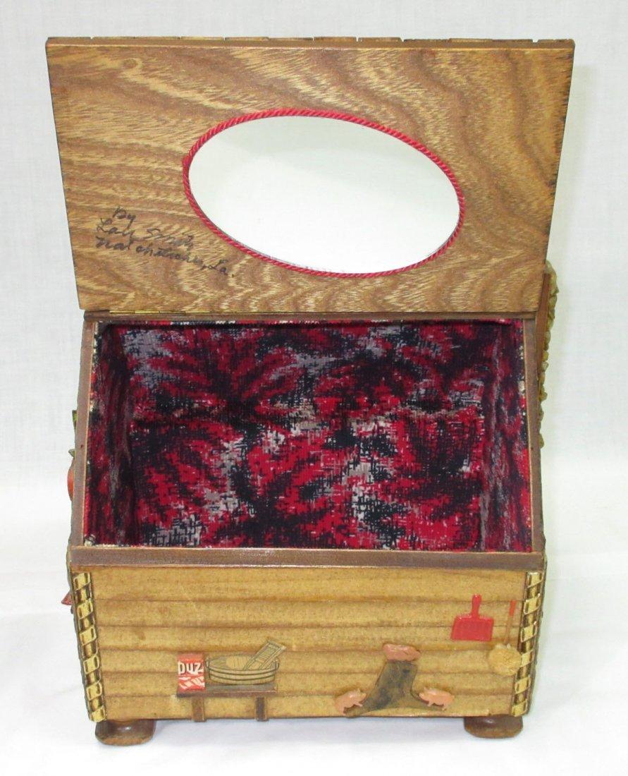 Folk Art Lou Smith Cabin, Box Purse - 4
