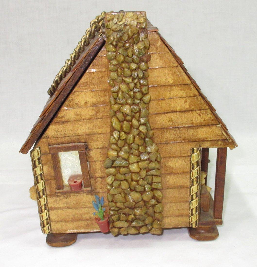 Folk Art Lou Smith Cabin, Box Purse - 6