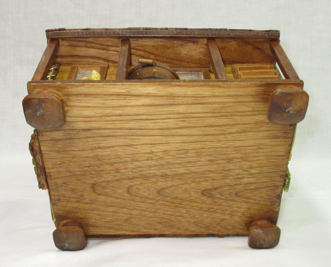 Folk Art Lou Smith Cabin, Box Purse - 7