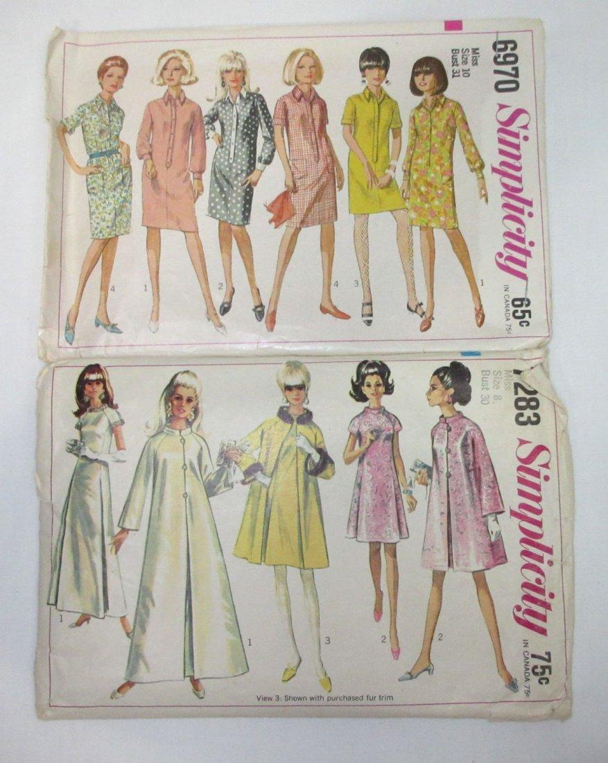"""3 Vtg 60's Dress & Coat Patterns, Bust 30/31"""" - 2"""