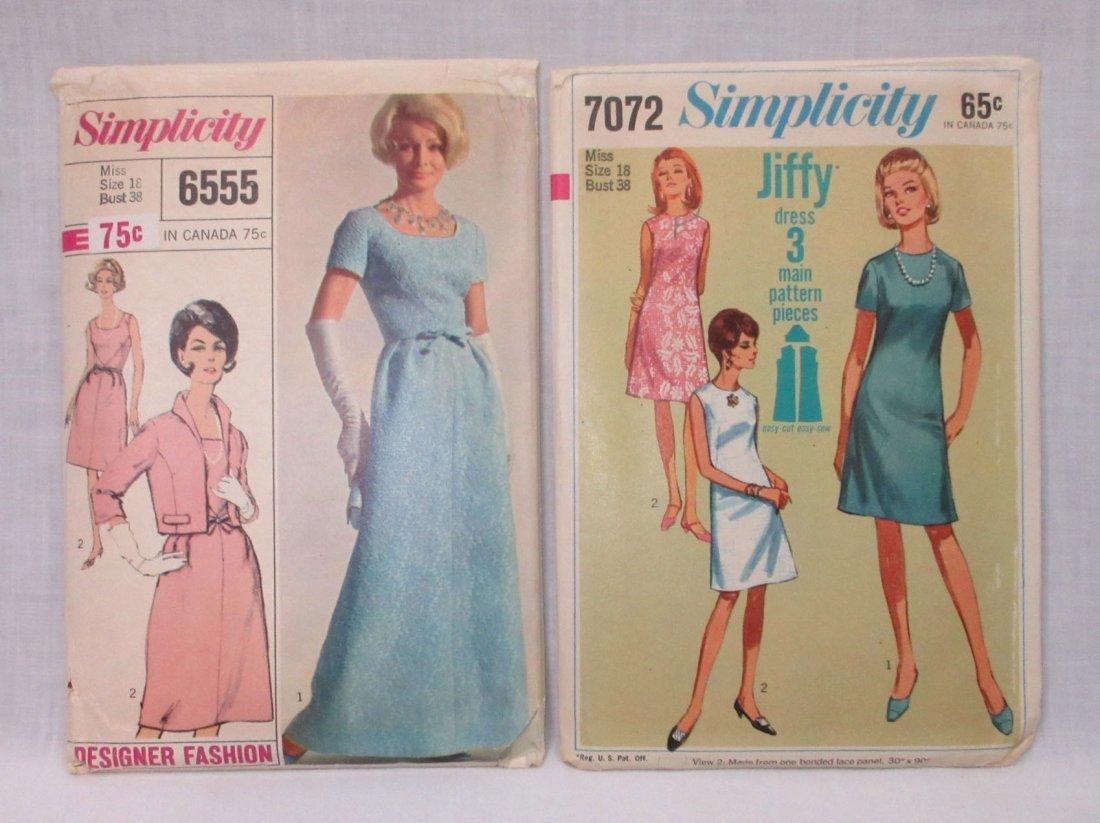 "4 Vtg Classy 60's Bust 38"" Dress Patterns - 2"