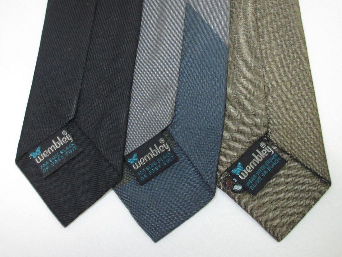 3 Wembley 60's Skinny Men's Tie's - 4