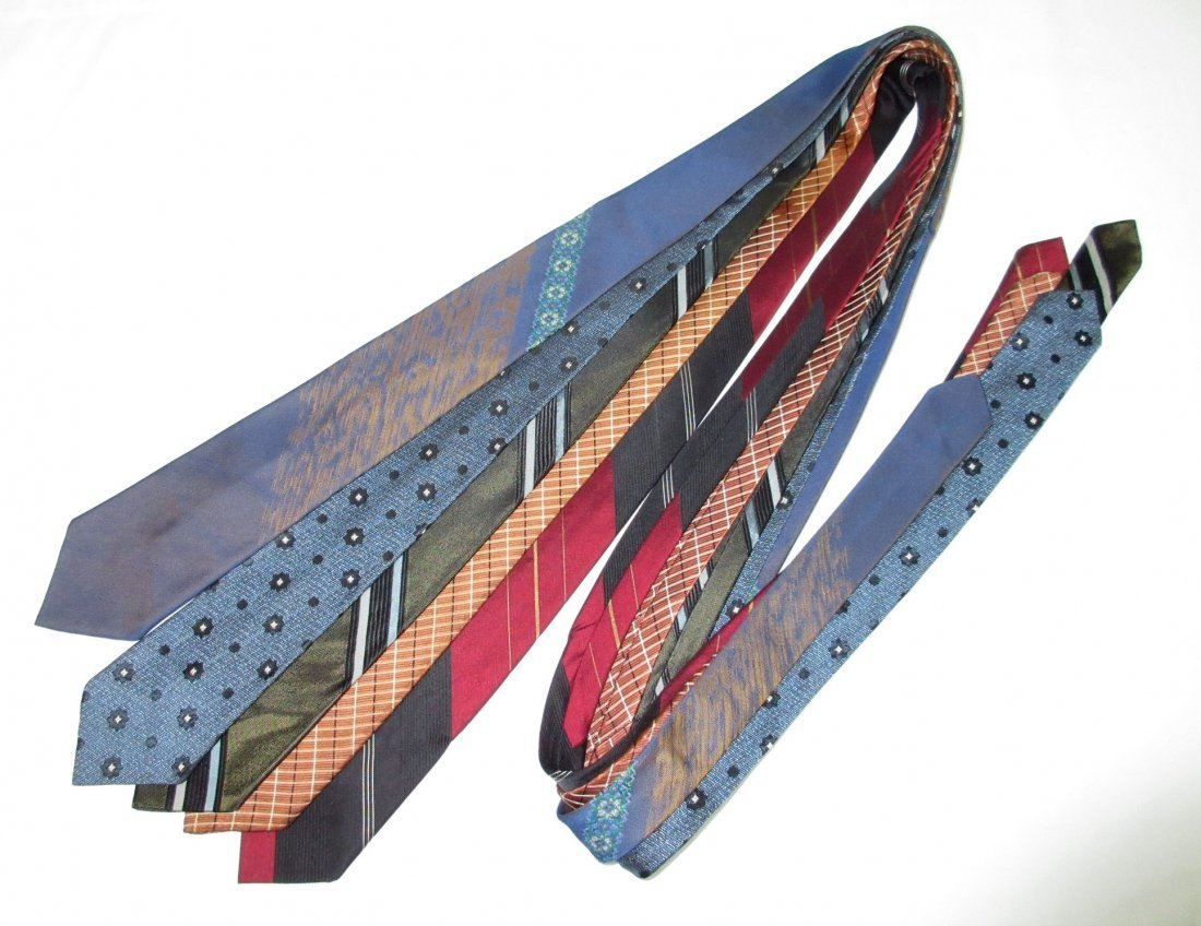 5 Vtg. Classic 1960's Men's Tie's