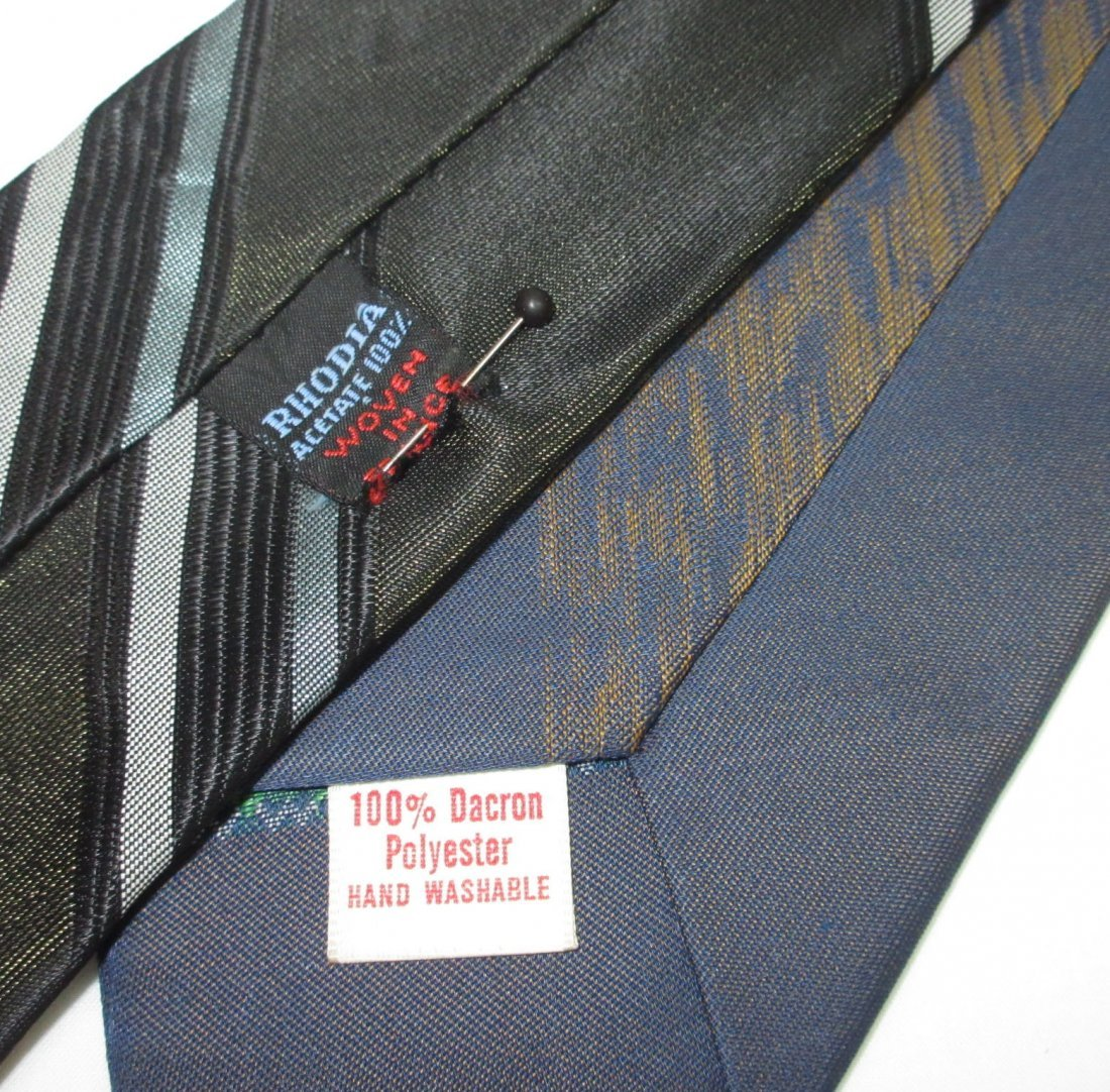 5 Vtg. Classic 1960's Men's Tie's - 3