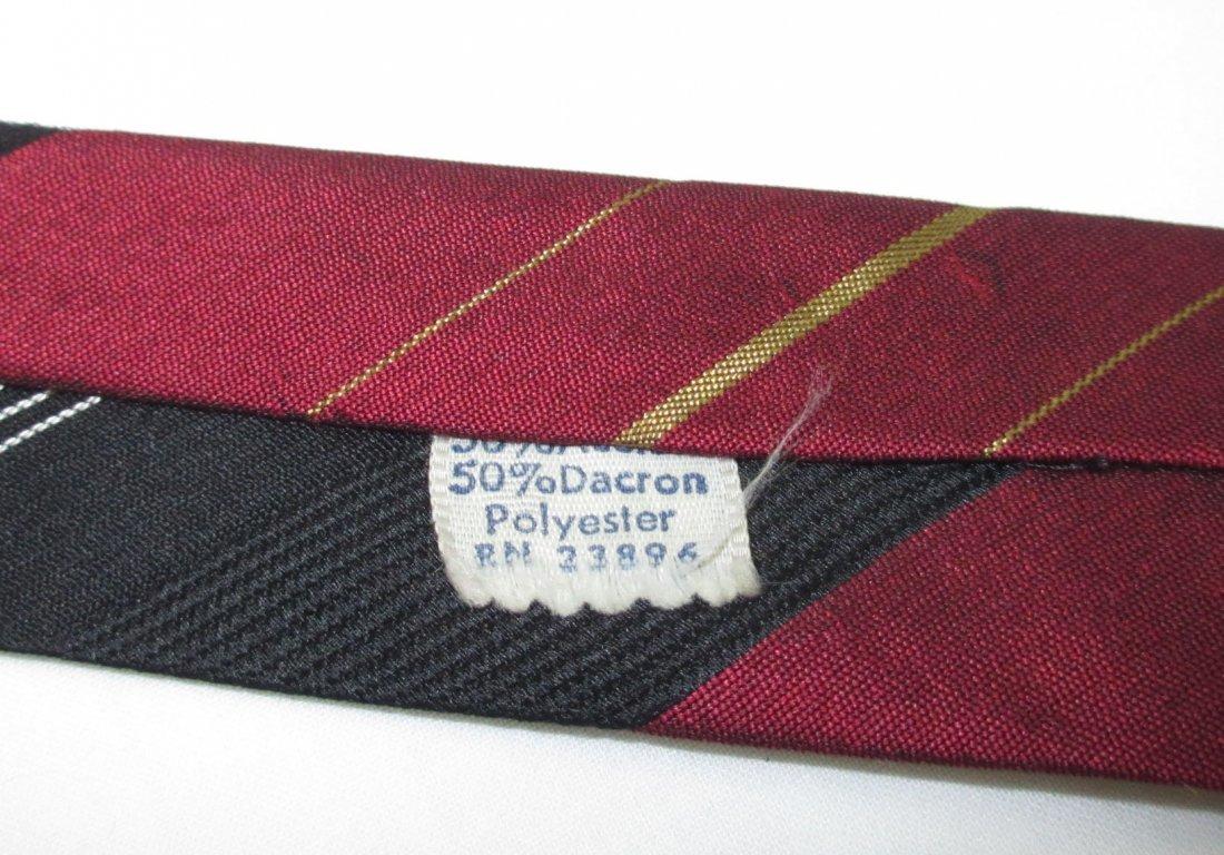 5 Vtg. Classic 1960's Men's Tie's - 4