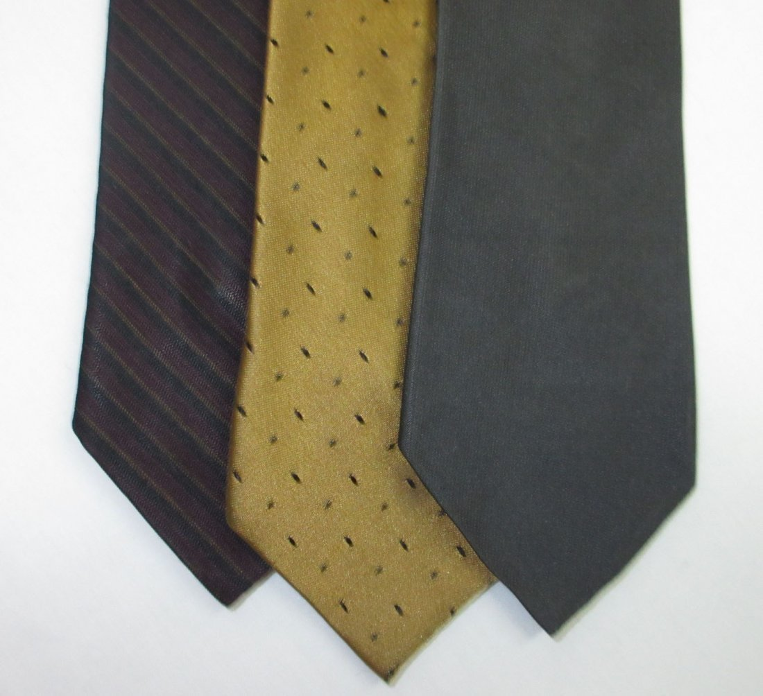 Vtg Arrow & Silk 3pc Men's Tie's - 2