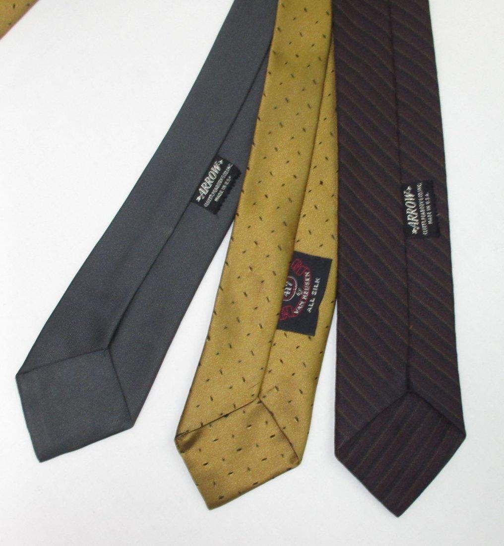 Vtg Arrow & Silk 3pc Men's Tie's - 4