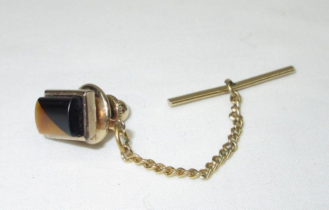 Classic Gold/Black Cuff Link Set - 2