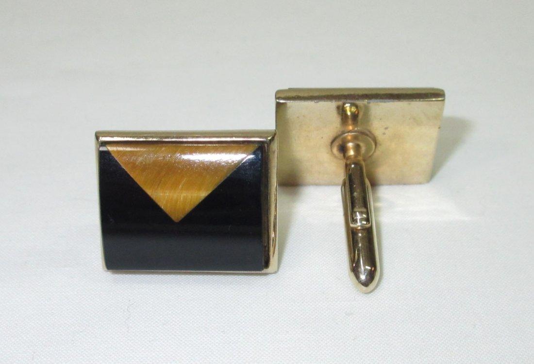 Classic Gold/Black Cuff Link Set - 3