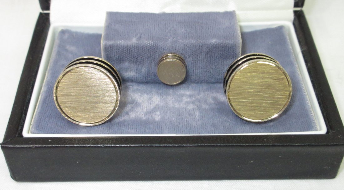 Signature Boxed Modern Art Cuff Link Set - 2