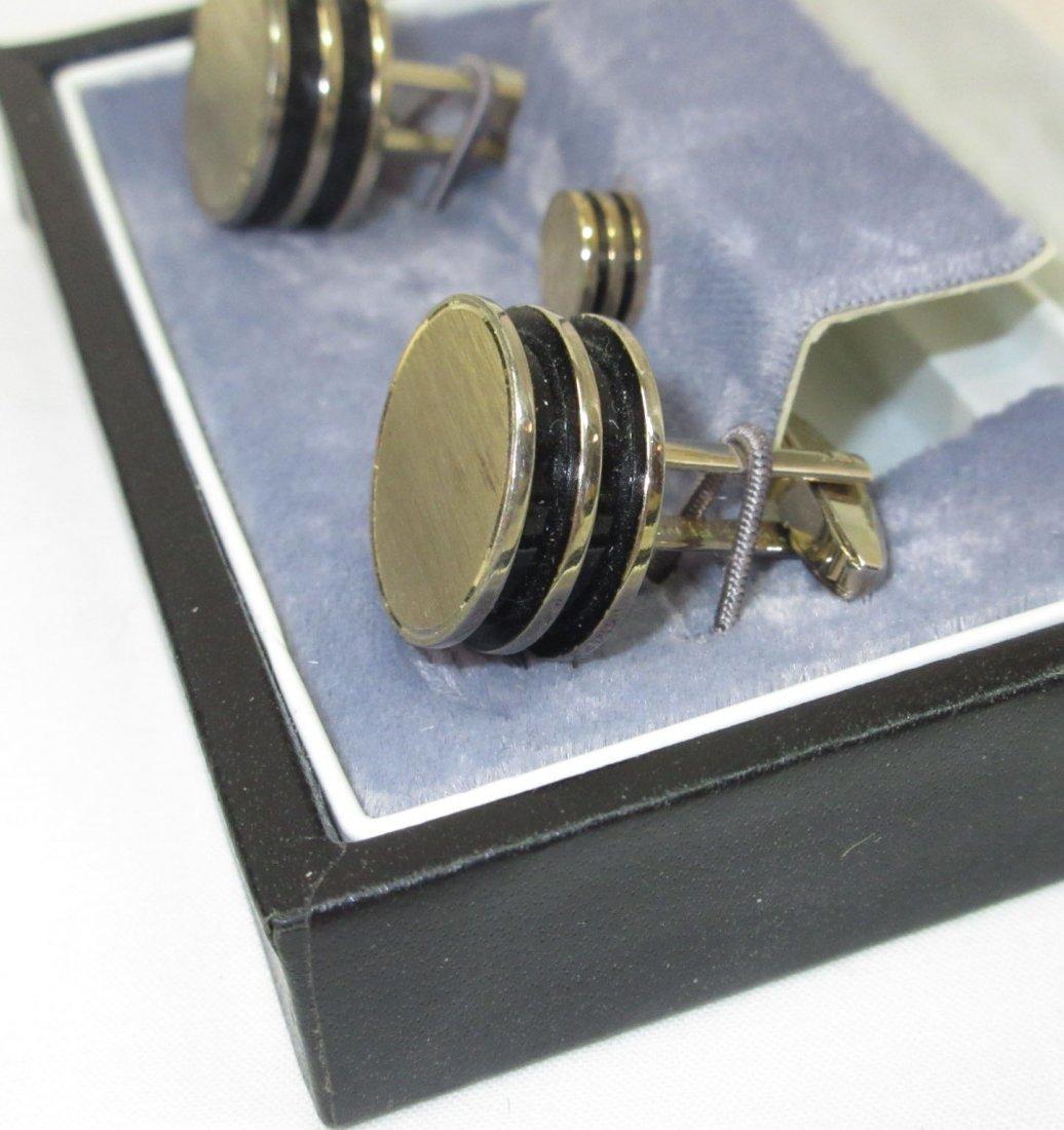 Signature Boxed Modern Art Cuff Link Set - 3
