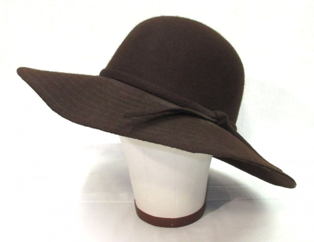 Brown Felt Floppy Hippie Hat
