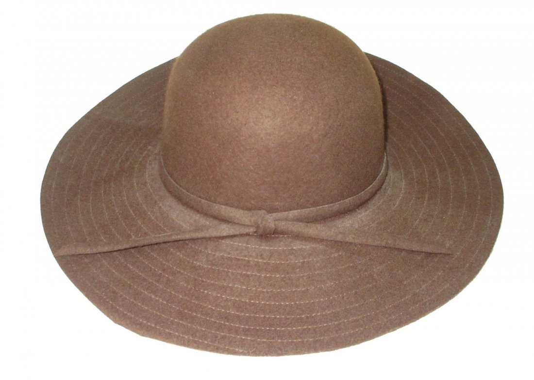 Brown Felt Floppy Hippie Hat - 2