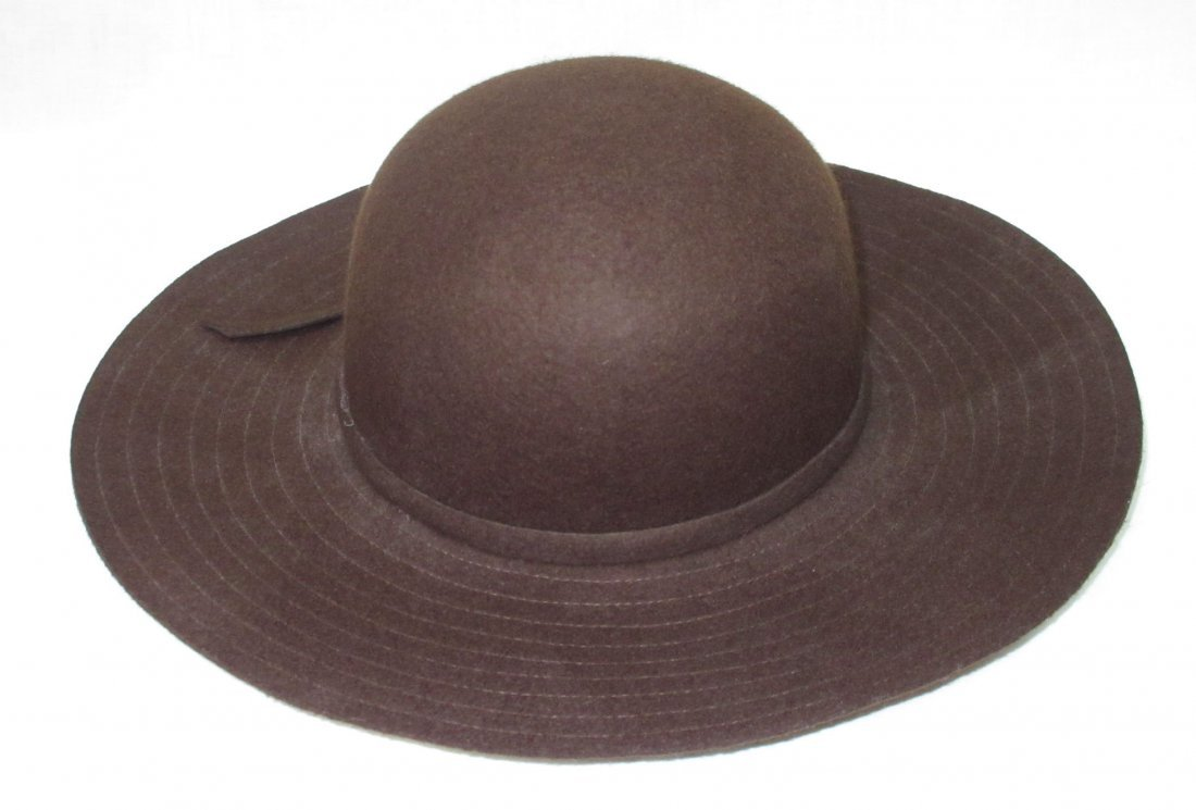 Brown Felt Floppy Hippie Hat - 3