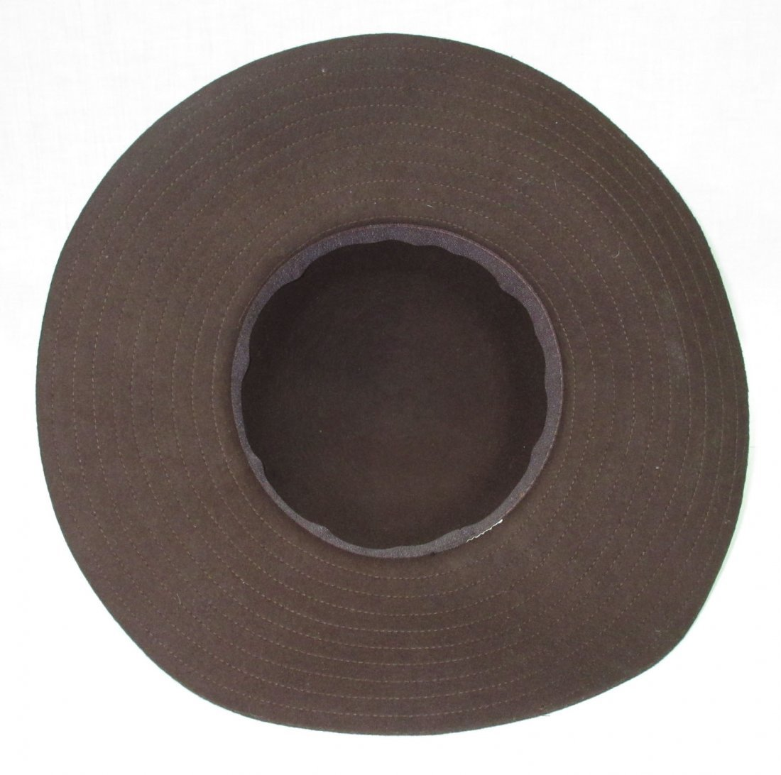 Brown Felt Floppy Hippie Hat - 4