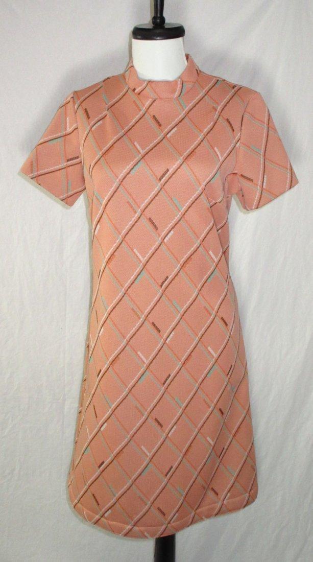 Classic 70's Polyester Skimmer Dress