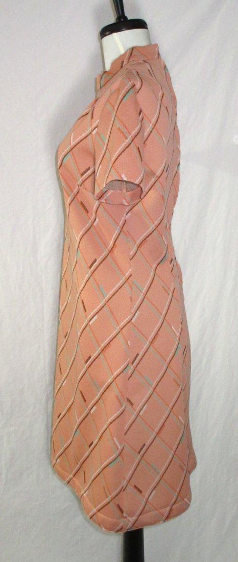 Classic 70's Polyester Skimmer Dress - 3