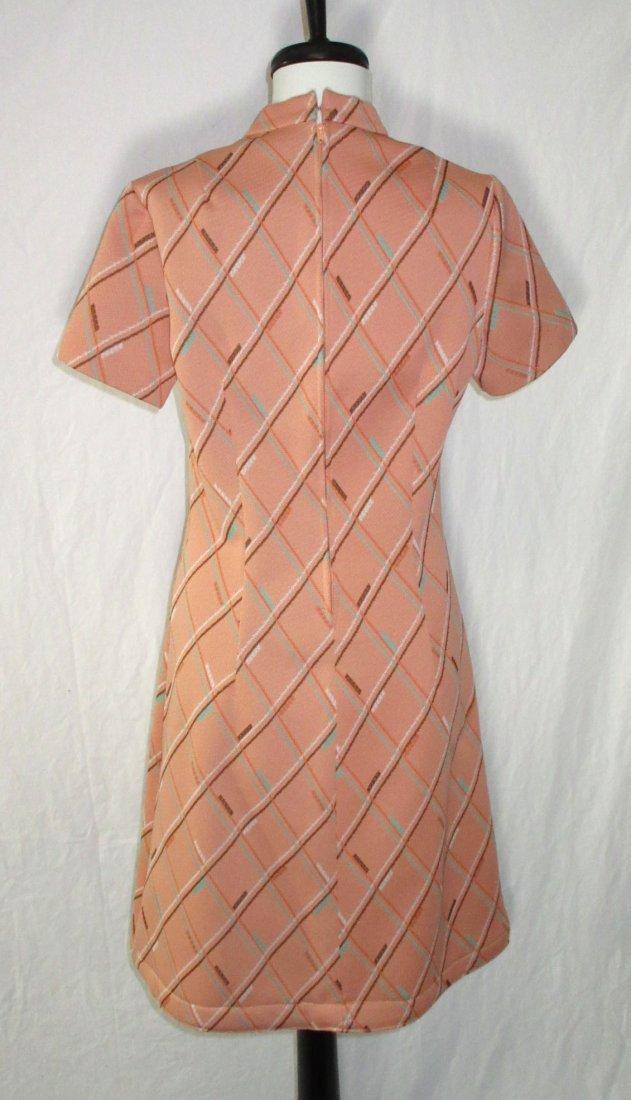 Classic 70's Polyester Skimmer Dress - 4