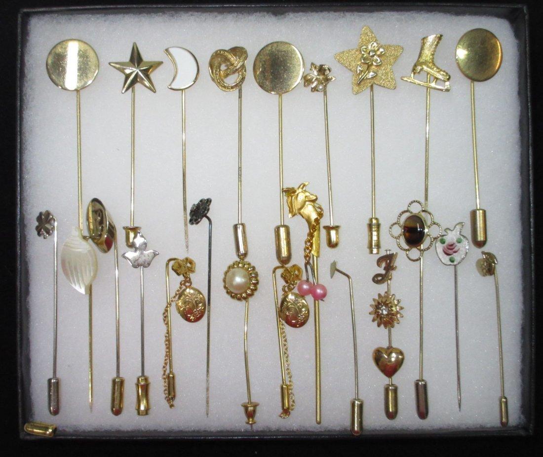 23 Various 70's Stick Pins