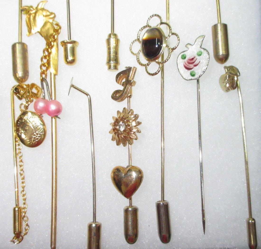 23 Various 70's Stick Pins - 4