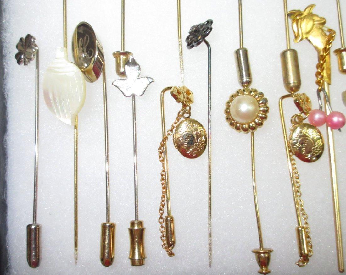 23 Various 70's Stick Pins - 5