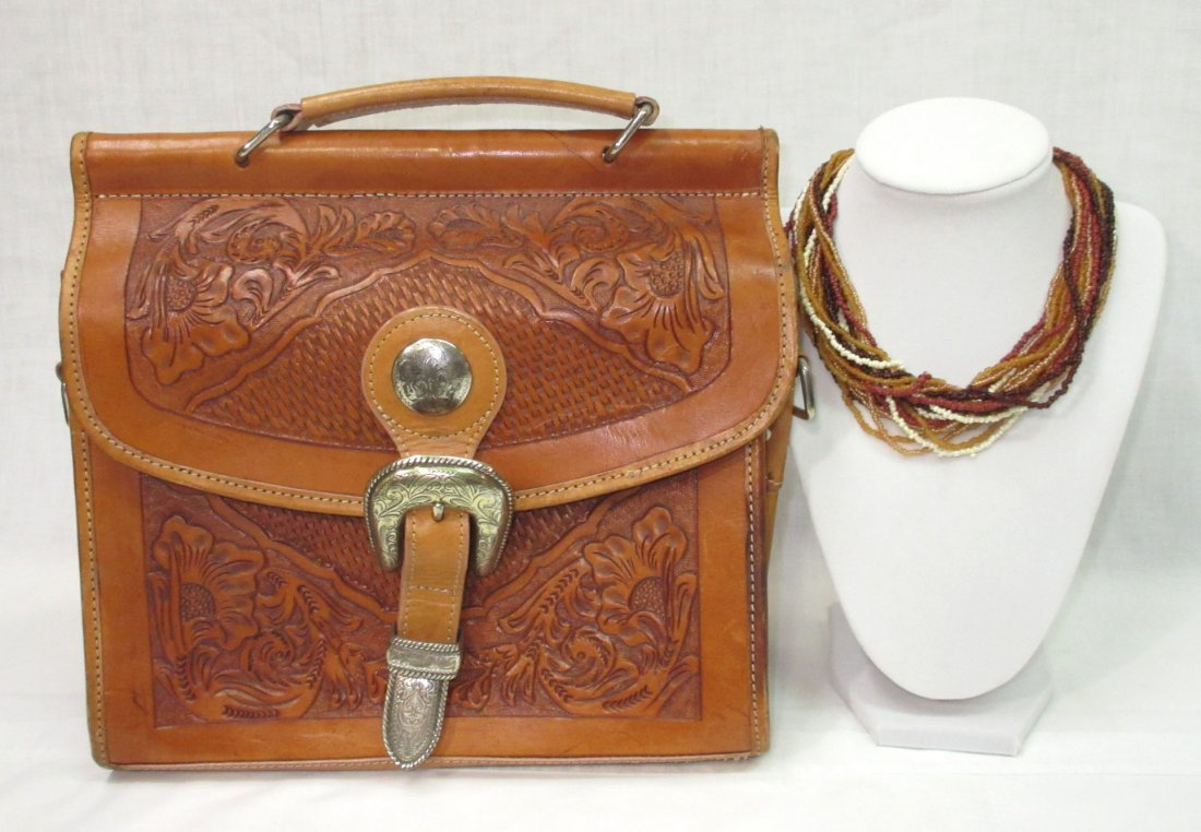 Hand Tooled Western Leather Nocona Purse