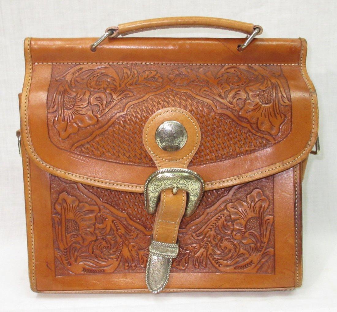 Hand Tooled Western Leather Nocona Purse - 2