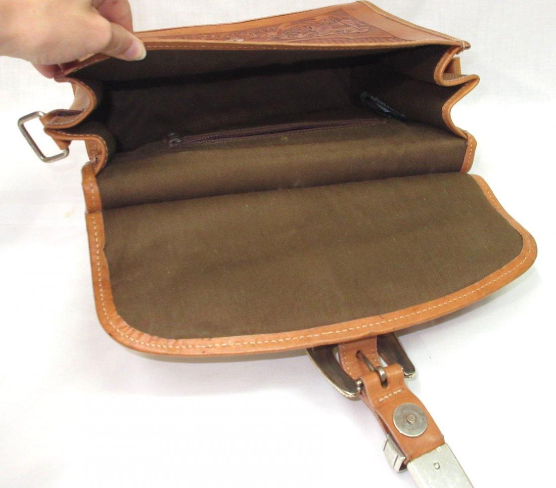 Hand Tooled Western Leather Nocona Purse - 5