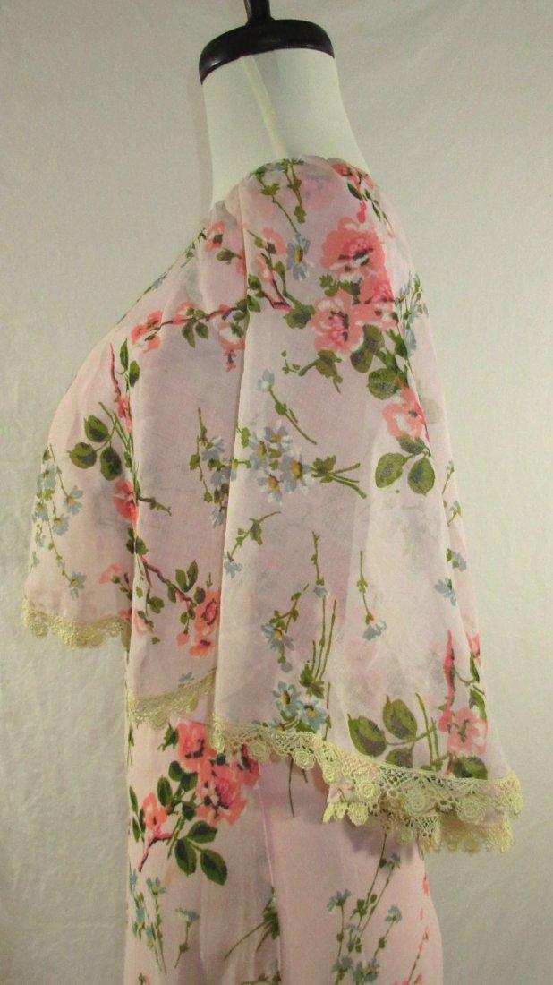 Pink 70's Floral Maxi Dress - 5