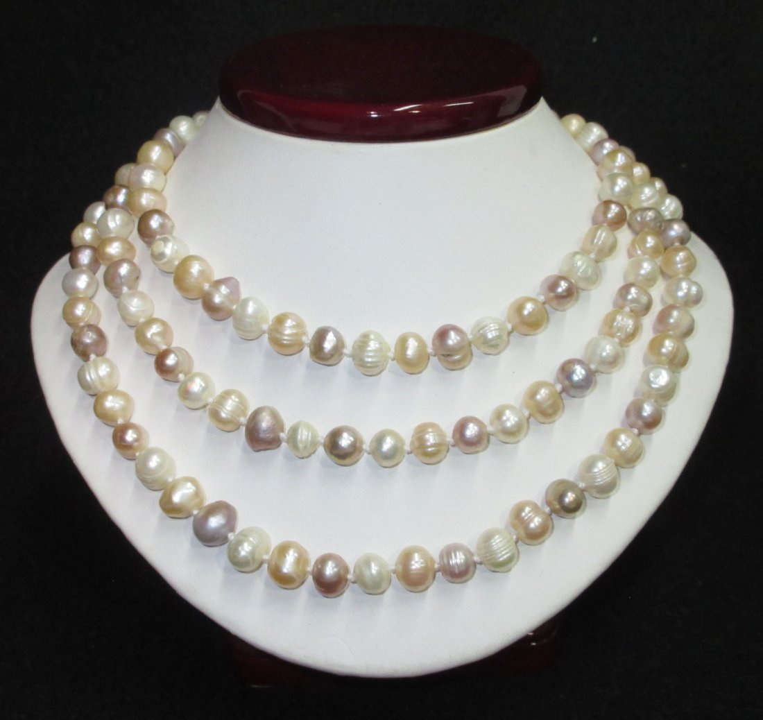 Fabulous 70's H.T.'d Genuine Circle Pearl Necklace